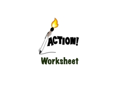 Action worksheet logo